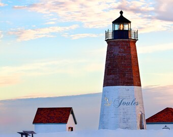 Point Judith Lighthouse ~ Sunset, Point Judith, Narragansett, Rhode Island, Beaches, Coastal, Nautical Photograph