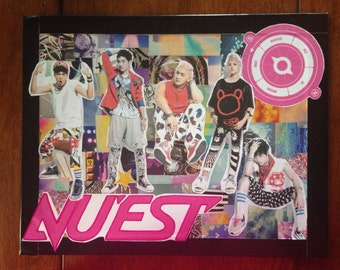 Nu'est Kpop Collage Poster