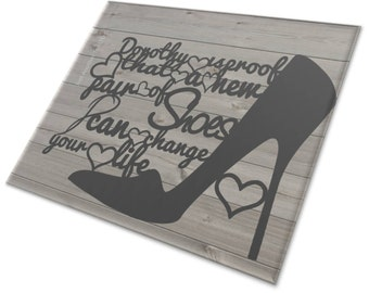 Dorothy Is Proof A New Pair Of Shoes Can Change Your Life Papercut Template (Commercial Rights Included)