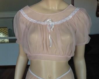 1940s Hollywood Original Harem Set Pink