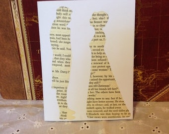 Romantic Pride and Prejudice Cards Upcycled Set of 4