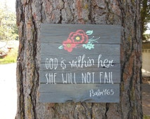 Joyful Island Creations Quot God Is Within Her She Will Not