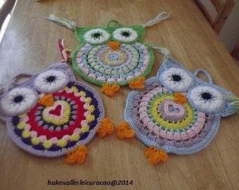 Owls Mandala Wall hanger