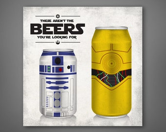 Star Wars Poster - These Aren't the Beers You're Looking For - Droids