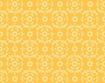Yellow Damask Fabric by Riley Blake