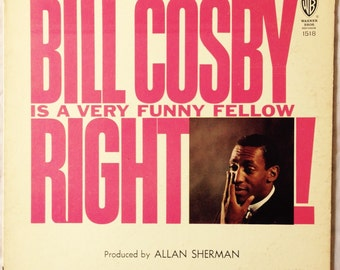 Bill Cosby Is A Very Funny Fellow  Right vintage vinyl record album 1963