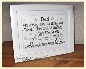 Personalised Dad framed print Father's Day