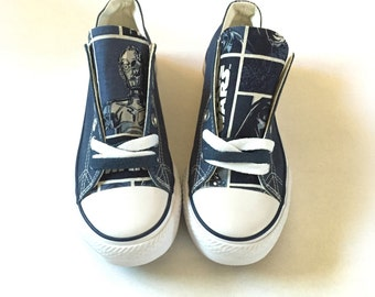 Star Wars Converse Shoes, Star Wars Shoes, R2D2, 3CPO, Skywalker, Darth Vader Shoes