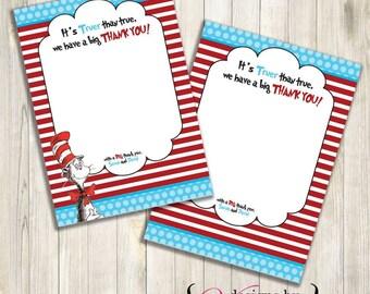 Dr Seuss  Thank you - Thank you Card (Custom)
