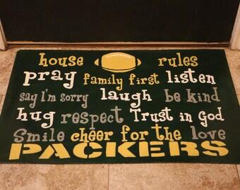 Packers Floor Cloth