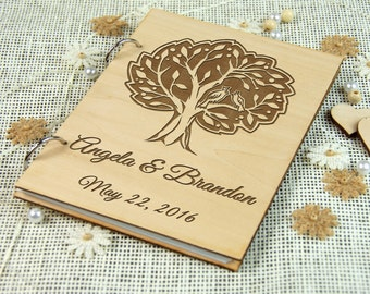 Beautiful Personalized Wedding-Anniversary-Bridal shower Guest Book, Memory Book, Wedding Keepsake, Gift for Couple, Photo Prop, Rustic Chic