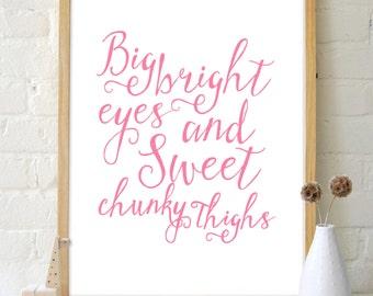 Big & Sweet Nursery Print