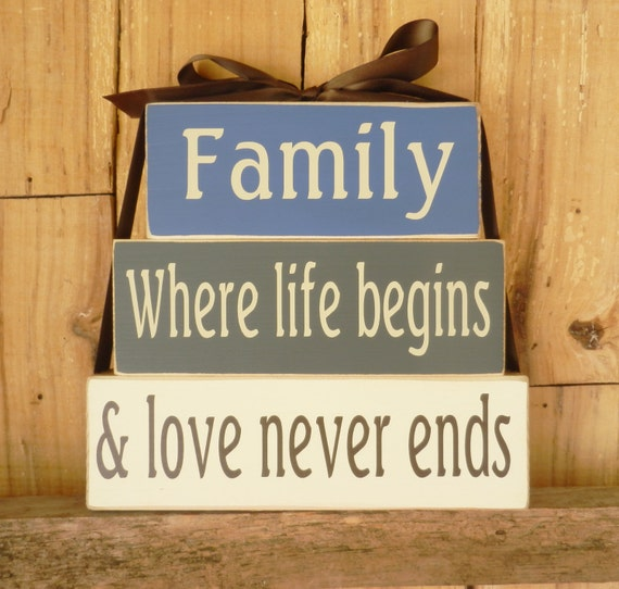 Family where life begins and love never ends Block Set