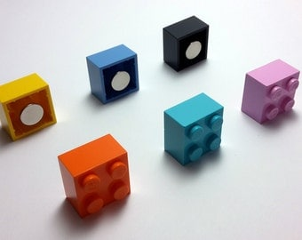 Magnet Lego 2 X 2 - lot of 2 magnets - set of 2 magnets