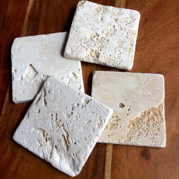 Clearance Tumbled Marble Tile Coasters