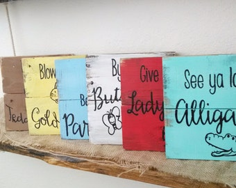 Rustic Childrens sign, Kids rhyming signs, nursery room decor, rustic baby shower gift, kids room sign, photo prop, toddler room decor