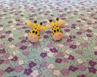 Cute Giraffe Earrings - Polymer Clay