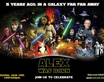 Star Wars Invitation - Star Wars Birthday party Invitation Printable