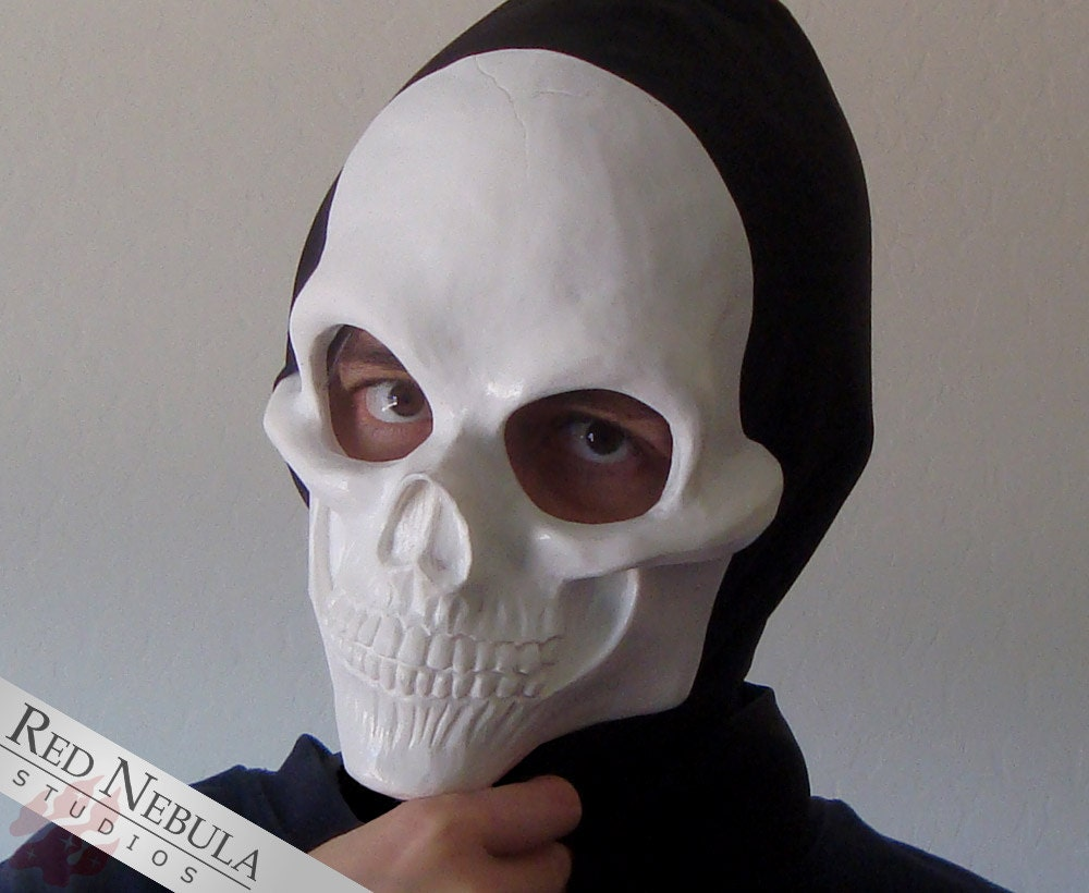 Human Skull Half Mask Blank Resin Skeleton Mask Halloween