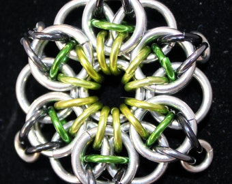 Celtic Vision Pendant/Chainmaille/Custom Colors/All Colors