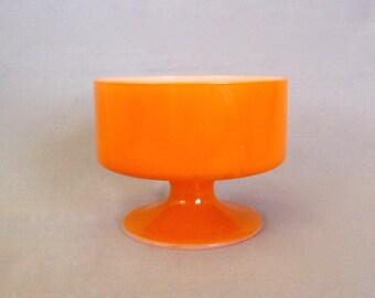 Vintage Orange Pedestal Sorbet or Ice Cream Dish