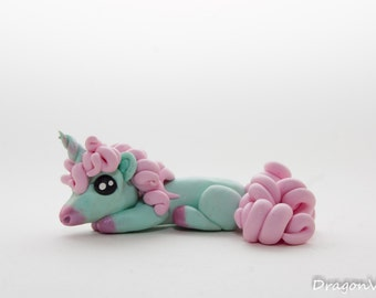Mint and Bubble Gum Unicorn With A Curly Mane