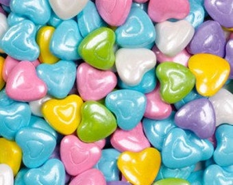 """Shimmer Pastel Mix Hearts Candy """"Cake/Cupcake/Cookie Decorations"""""""