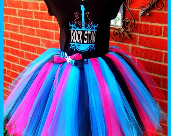 Rock Star Tutu set No.2 For girls..available in all sizes.