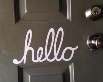 hello door decor