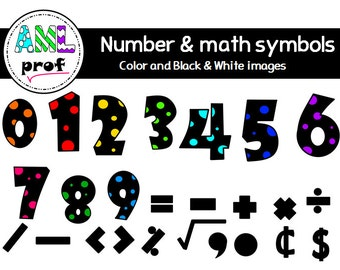 Dot numbers and Math symbols