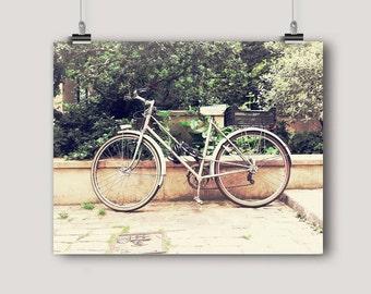 Bicycle Art, Bicycle in Paris, Photography Print, Bike Photography, Bicycle Print, French Decor, Paris, Wall Art, 8 x 10, 11 x 14 Print
