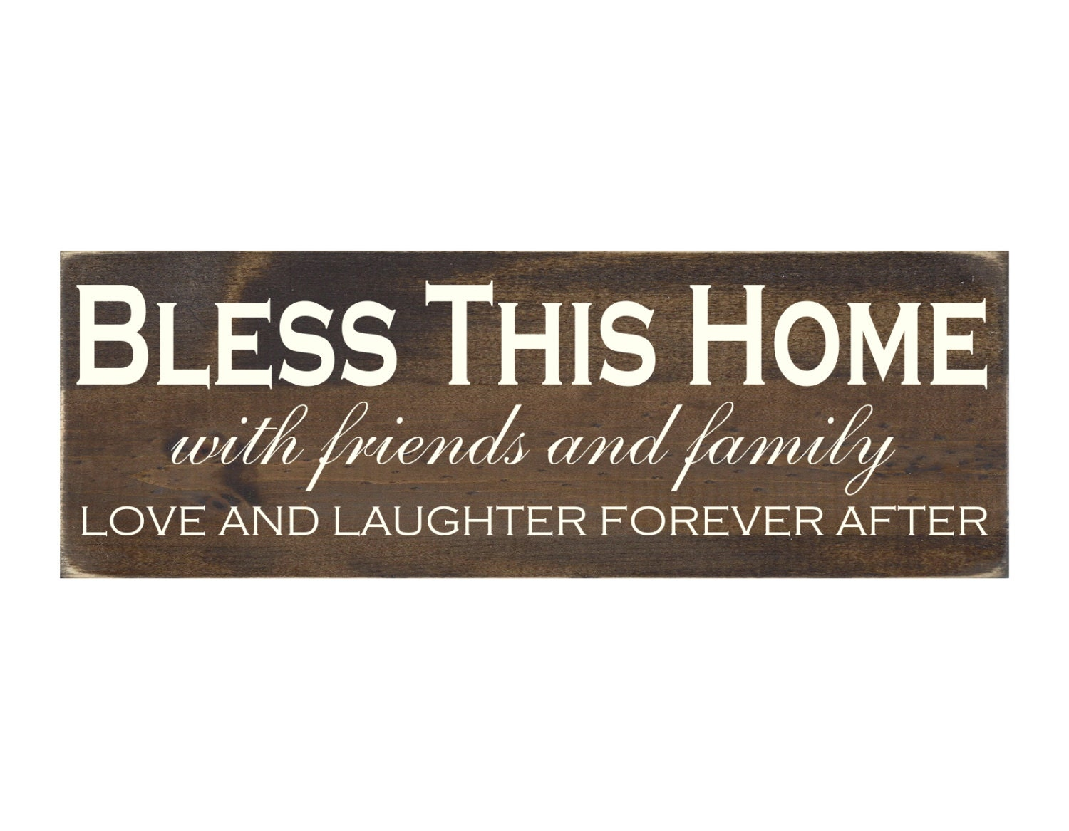 Rustic Wood Sign Wall Hanging Home Decor Bless This Home
