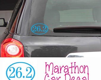 Marathon Vinyl Car Decal - You choose color decal - Running - Runner Decal - Laptop Decal