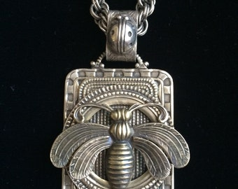 Custom Sterling Silver BEE pendant