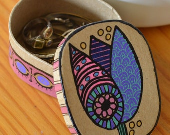 Not-Your-Ordinary-Tulip Painted Jewelry Box, item # 010115-11