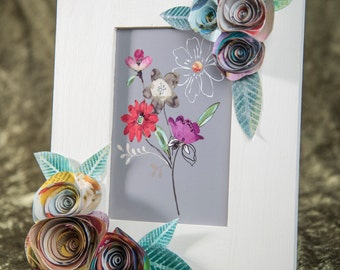 Paper Flower Picture Frame