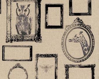 Echino Decoro Natural Animal Frames Fabric - Cotton/Linen