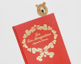 Felt planner clip, Felt bear paperclip, Cute Filofax clip, Lovely calendar clip, Handmade bookmark