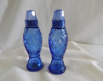 Vintage Avon Blue Salt & Pepper Shakers