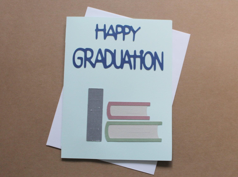 happy graduation card congratulations card for grad library books