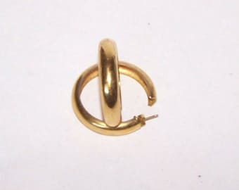 Gold Hoop Earrings - Medium 3/4 Hoop - Posts - item GH95