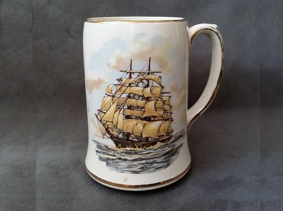 Sadler England Beer Mug Nautical Collectible Mug Glazed