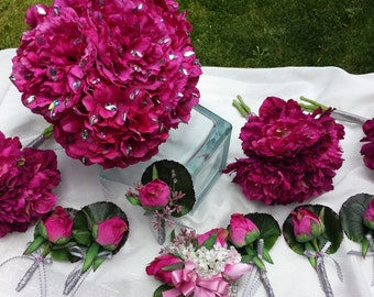 Hot Pink Bouquet Package!