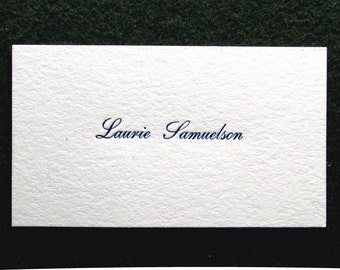 Great Price! - 50 Letterpress Calling Cards, Victorian Design. Two sided