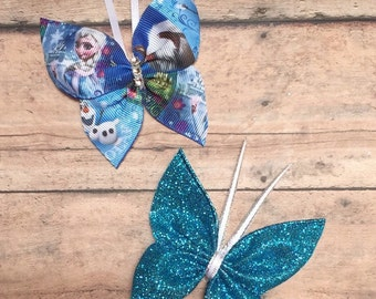 Baby Clips - Baby Hair Clips - Butterfly Baby Clips ~ Butterfly Bows - Baby Butterfly Clips - Baby Bows - Little Girl Bows - Little Girl