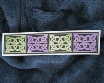 Handpainted Celtic Knot Watercolor Bookmark