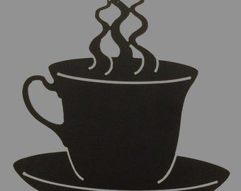 Metal Coffee Cup Decoration