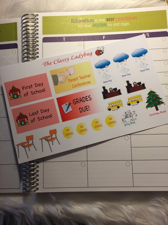 Teacher stickers for the Erin Condren Teacher Lesson Planner