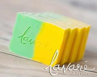 Natural Lemongrass Soap - Lemongrass Soap - Lemon Soap - Handcrafted Lemongrass Soap - Artisan Lemongrass Soap - Cold Pressed Lemongrass