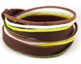 axy wrap bracelet TWIC6-6!  Leather Bracelet